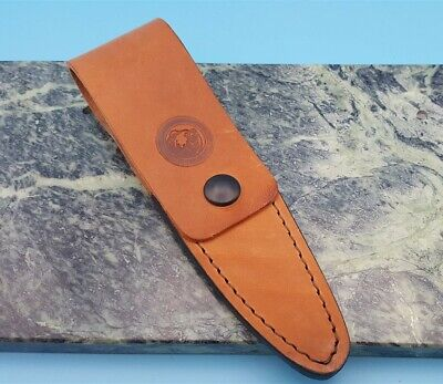 Knives of Alaska Cub Bear Caping Knife Leather Fixed Blade Knife Belt Sheath  Alaska Cub Bear Knife