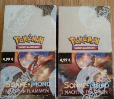 Pokemon Karten Display Booster sonne und mond ovp nacht in flammen