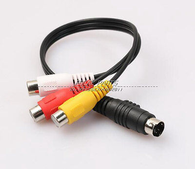 4 Pin S Video To 3 Rca Female Tv Adapter Laptop Cable Dt Us Shipping A211