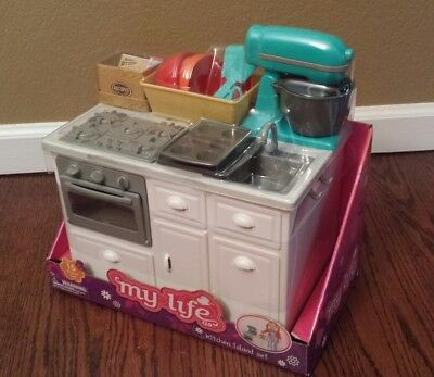 "My Life 18"" Doll Kitchen Island Baking Set Mixer Fits American Girl Grace Thomas"