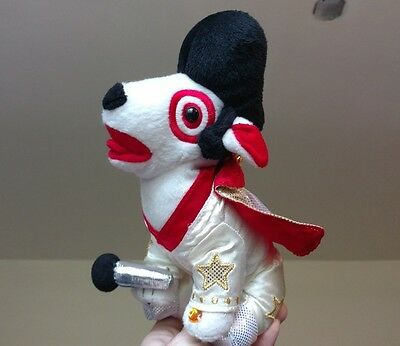 TARGET DOG ELVIS PRESLEY PLUSH BULLSEYE DOG PUPPY LAS VEGAS COSTUME DOLL TOY - Bullseye Dog Costume