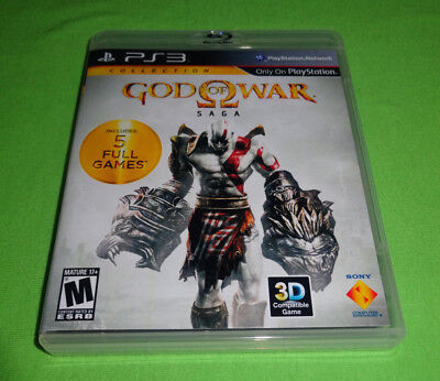 Empty Replacement Case! God of War Saga Collection 1 2 3 Sony PlayStation 3 PS3