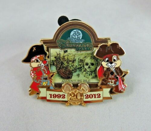 Disney DLP Pin - Once Upon A Time In Disneyland Paris - Pirate Chip and Dale
