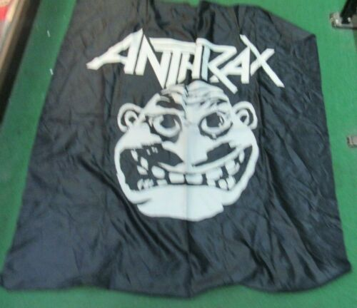 ANTHRAX TEXTILE POSTER FLAG RARE NEW  NIKRY FLAG 1987 NOT MAN OZZY
