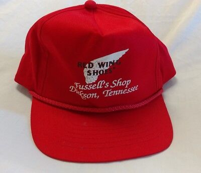Vintage Red Wing Shoes snapback hat Dickson Tennessee 1980's 1990's