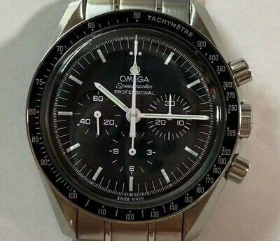 OMEGA Speedmaster Moonwatch Professional Chronograph Men's Black Watch Cal. 1861