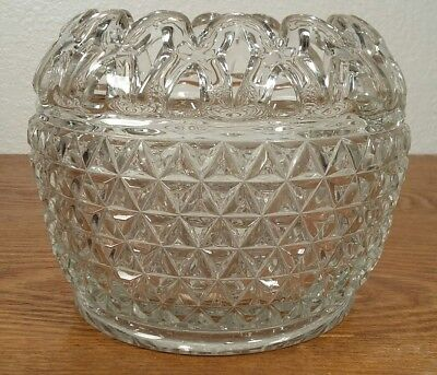 """Imperial Glass Belmont Lace/Open Work Edge Cupped Bowl / Vase 4 1/8"""""""