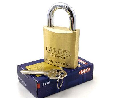 Abus 8345-200 Padlock Solid Brass - Rekeyable Kwikset