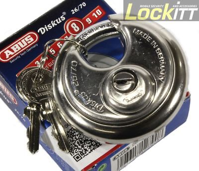 Abus 2670 Stainless Diskus Round Padlock Made In Germany