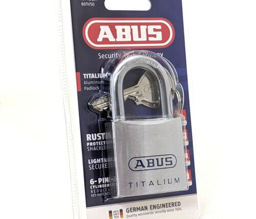 "ABUS 80TI/50 Titalium Marine Grade padlock 10mm 3/8"" shackle"