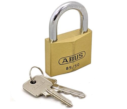 ABUS 85/50 Solid Brass Padlock Nano Protect Hardened Steel Shackle Keyed Alike