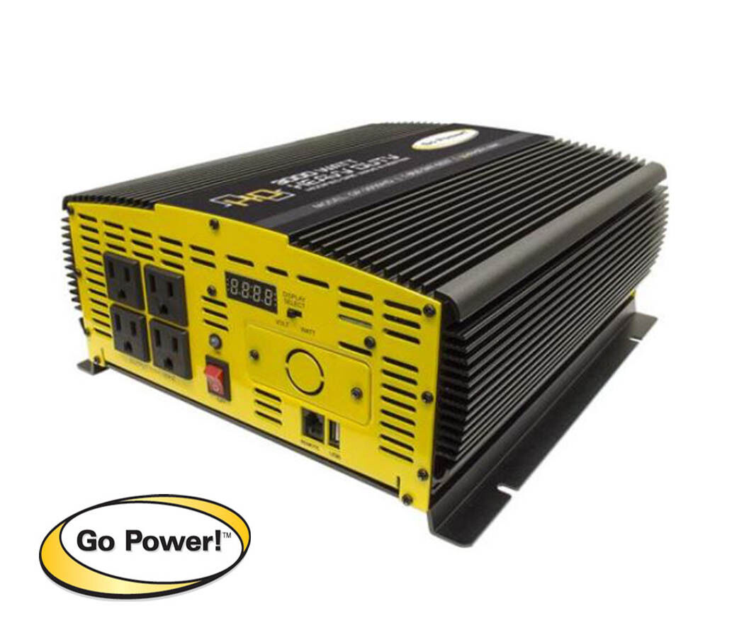 GO POWER GP-3000HD, 3000 WATT MODIFIED SINE WAVE INVERTER 12