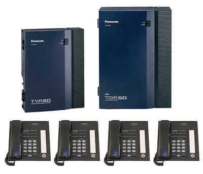 Panasonic Tda50 Hybrid Ip-pbx Tva50 Voice Processing System With 4 Phones
