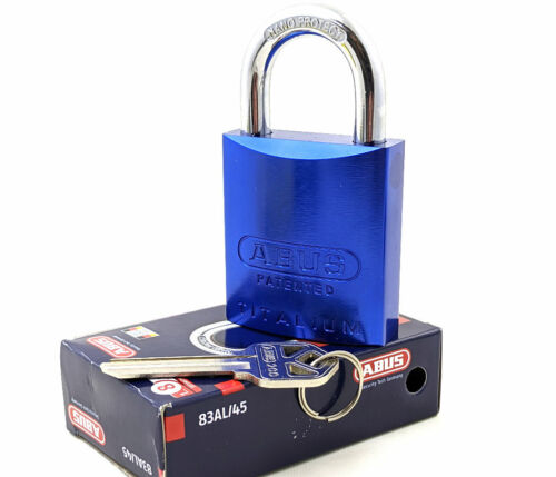 ABUS 83AL/45-200 Padlock Blue - Rekeyable Kwikset