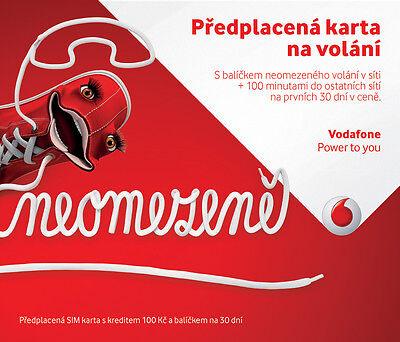 Vodafone Czech Republic Prepaid Sim Card   Credit 100 Czk