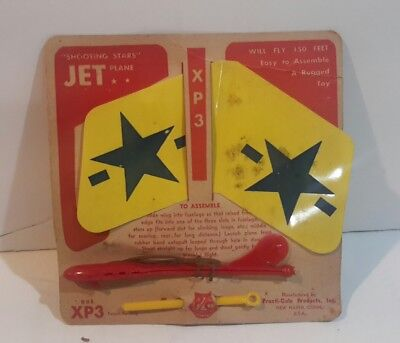Vintage XP3 SHOOTING STARS JET Model Plane made by Practi-Cole Products Inc 1950