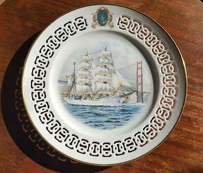 B&G Bing Grondahl The Windjammer Collection Plate Eagle Golden Gate Bridge