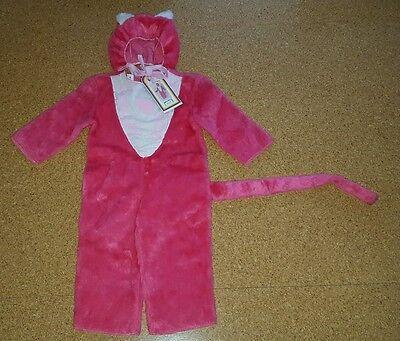 rnevalskostüm Gr.98 , rosa Plüschkatze, neu (Rosa Katze Kostüme)