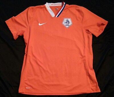 NIKE Vintage KNVB Netherlands FOOTBALL home JERSEY 2008/2010 Soccer SHIRT XXL 2X image