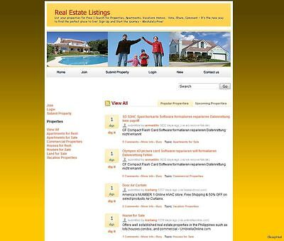 Real Estate Social Network Website For Sale - Free Setup And Domain