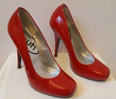 Schuh Lois Point Patent Court Shoes UK 5 EU 38 Red Killer High Heels. Immaculate Red Patent Schuhe