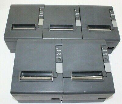 Lot Of 5 Epson Tm-t88iv M129h Pos Receipt Printer Parallel Thermal Printer