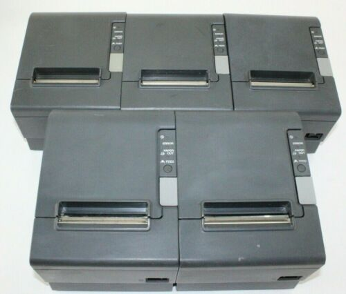 Lot of 5 Epson TM-T88IV M129H POS Receipt Printer Parallel Thermal Printer