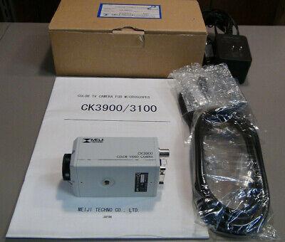 Meiji Techno Ck 3900 C-mount Color Video Camera For Microscope Accessories