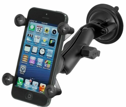 RAM-B-166-UN7U Lock Suction Cup Mount & Universal X-Grip Cell Phone Holder New