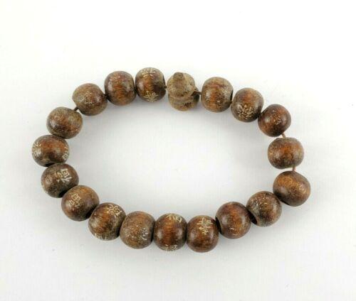 Japanese Vintage Prayer Style Bracelet Wooden Beads (measurements in photos)