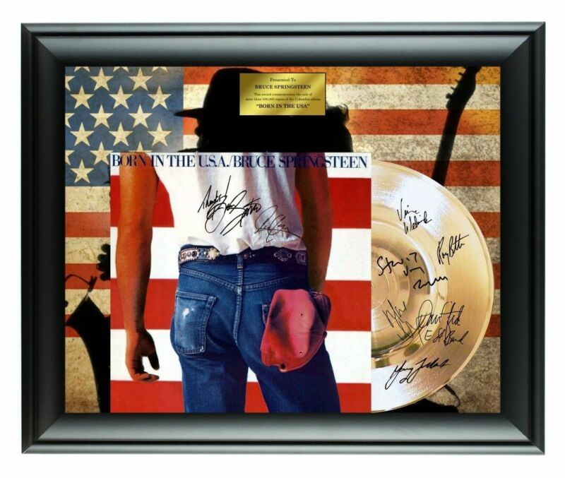 Bruce Springsteen Autographed Born In The USA Album LP Gold Record Award