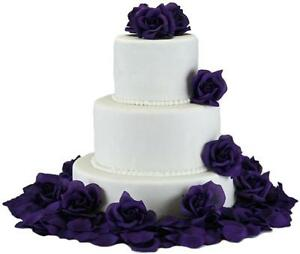 Purple Wedding Cake Flowers