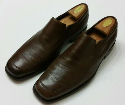 Johnston & Murphy Brown Leather Slip On Loafers SZ 12  Mens