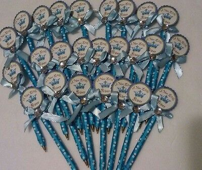 24 Baby Shower PRINCE pens Favors for boy](Baby Showers For Boys)