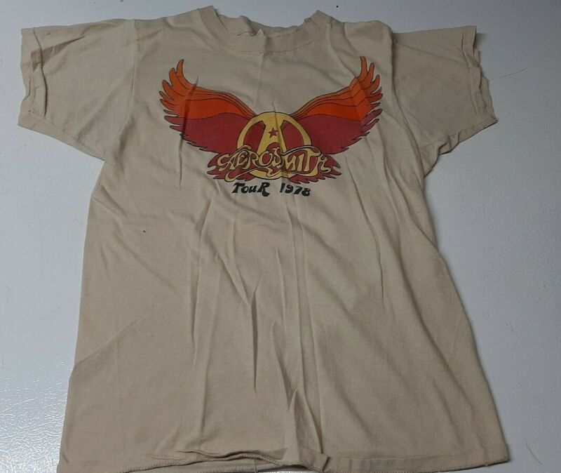 *1978 AEROSMITH* vintage concert tour tee t-shirt (S) Rare 70
