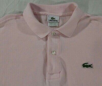 Lacoste 5191L Pink Polo Shirt Short Sleeve Mens Size 4 Small 100% Cotton VGC
