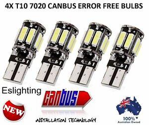 4X CANBUS T10 12V W5W 7020 COOL WHITE LED CAR TAIL SIDE LIGHTS TURN PARK BULB