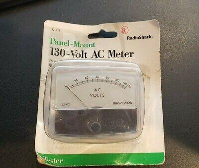Radioshack 22-412 Analog Ac 0-130 Vac Volt Ac Meter Panel Mount Vintage Nib