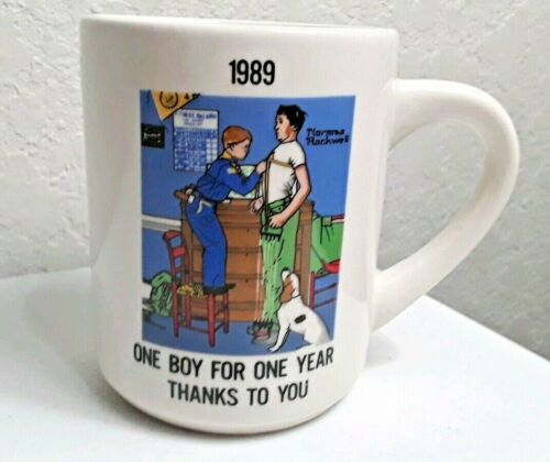 VINTAGE 1989 BOY SCOUTS NORMAN ROCKWELL COLLECTIBLE MUG
