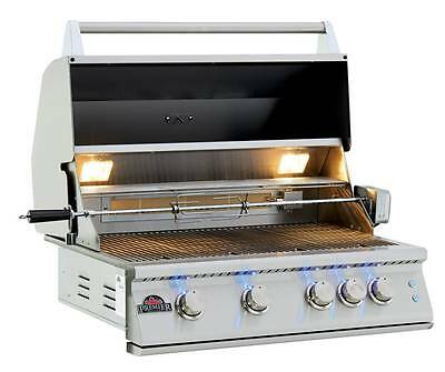 32  Premier Stainless Steel Drop In  Built In Barbecue Bbq Island Gas Grill Head