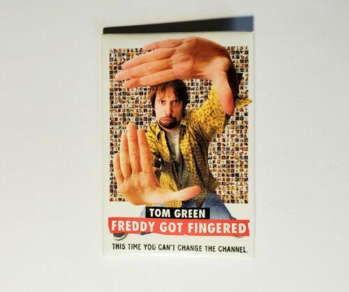 VINTAGE 2001 FREDDY GOT FINGERED MOVIE PROMO PIN TOM GREEN DREW BARRYMORE BUTTON - $10.00