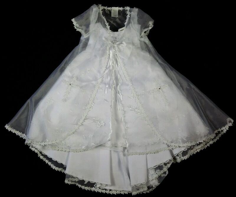 Baptism Gown,Christening Formal Dress, Flower Girl,White,Vestido Bautizo,Favors