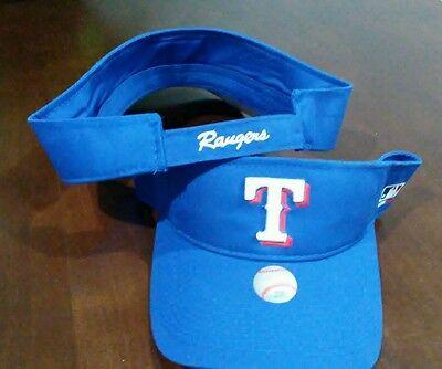 New Adult MLB Texas Rangers Sun Visor Cap Hat -PMJS ()