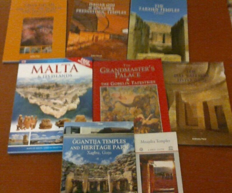Malta LOT of 8 - City, Museum, Temple, Ruins Paperback guides VG condition + DVD