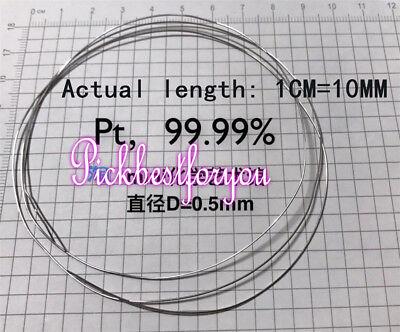 99.99 Pure Platinum Metal Wire Pt Diameter 0.5mm Length 10mm Mw60 Ql