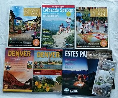 Colorado Visitor's Guides Tourism Booklets Lot of 7 with Colorado Map