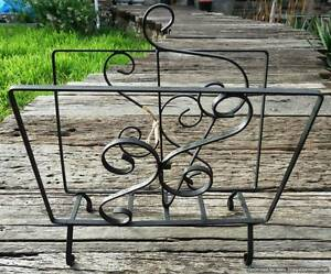 WROUGHT IRON MAGAZINE RACK Rosewater Port Adelaide Area Preview