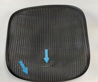 Herman Miller Aeron Chair Seat Mesh Grey Pellicle W Blemish Size B Medium 56