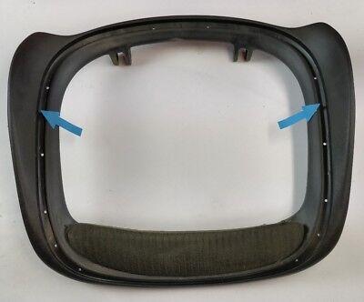 Herman Miller Aeron Chair Seat Pan Size B Damaged Cracked Graphite Color 12