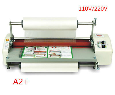 17.5 A2 Roll Laminator Four Roller Hot Cold Laminating Machine For 440mm Paper